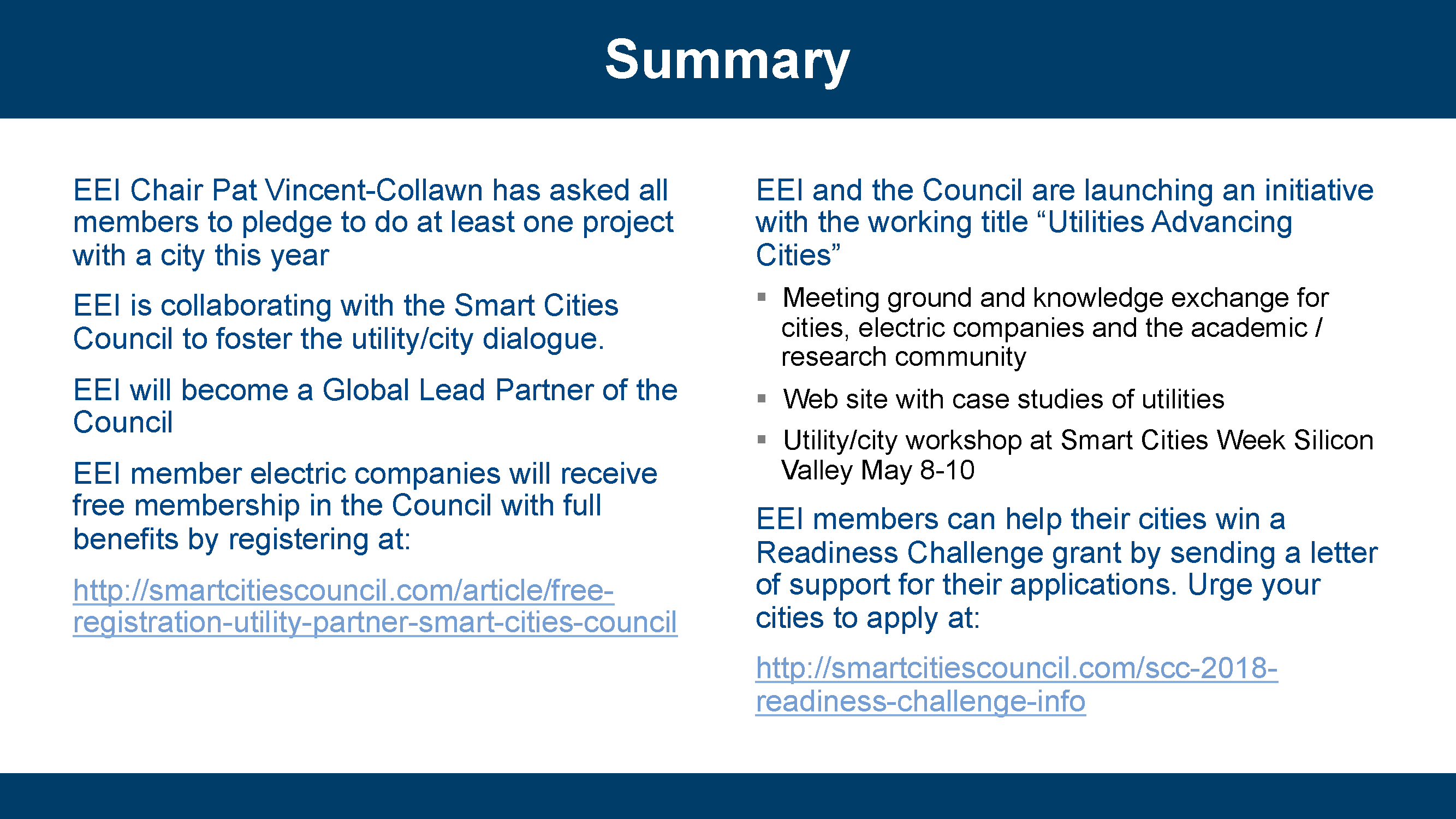 Smart Cities Council | EEI Smart Cities Presentation
